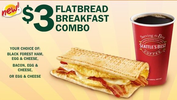 SUBWAY BREAKAST – all of APRIL is $3!