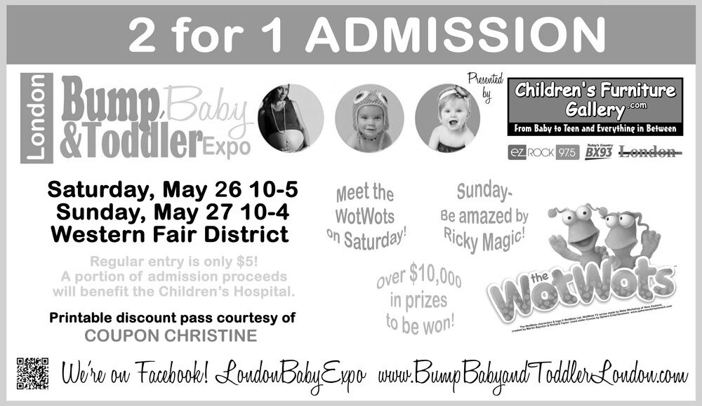 Bump, Baby & Toddler Expo at the Western Fair District on Saturday, May 26 & Sunday, May 27