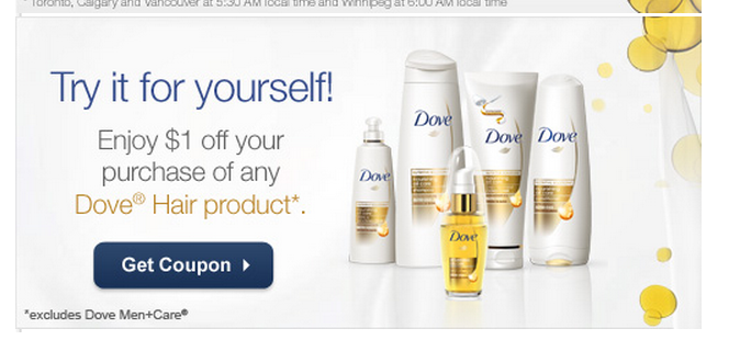 Printable $1 off Dove Hair Care Products (excludes men's product)