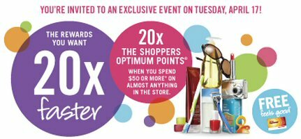 Another 20x Bonus Point Day at SDM on Tuesday, April 17, 2012