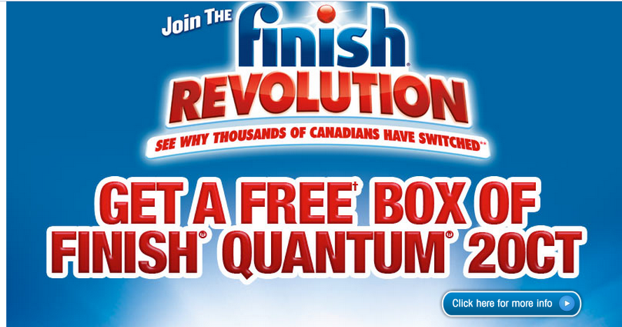 FREE FINISH DISH DETERGENT with this *printable* Mail in Rebate from Finish's website