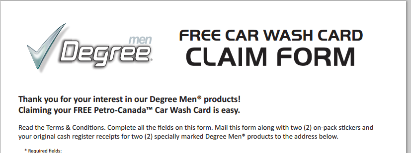 Mail in Rebate – Buy 2 Degree products and get a $10 Petro Gift Card