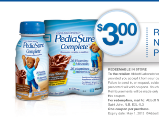 Pedisure – $3 off Printable Coupon