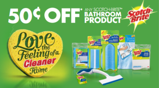 50cents off SCOTCH BRITE Printable Coupon