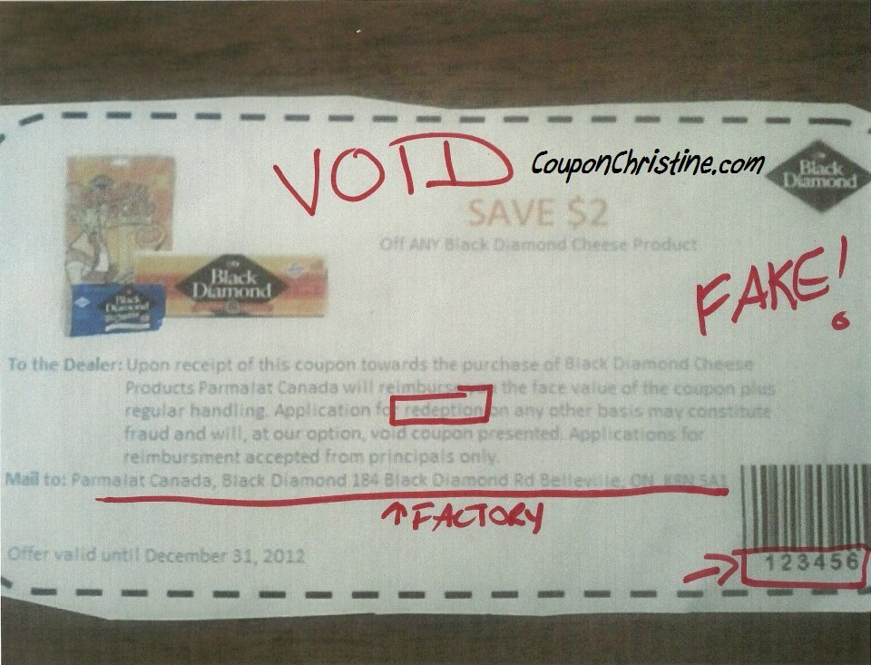 Black Diamond FAKE Coupon Circulating