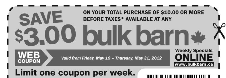 ** BULK BARN COUPON AVAILABLE** $3 off a $10 purchase