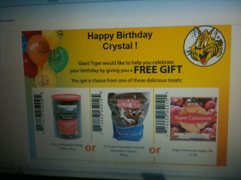 Free Stuff at Giant Tiger for your Birthday + New Giant Value Guarantee!
