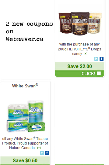 REMINDER to go and request your Websaver coupons – some great ones on their website now!