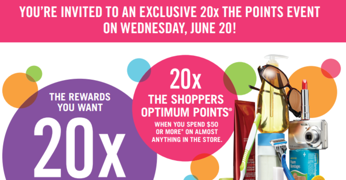 ANOTHER 20x the POINTS event this Wednesday, June 20, 2012