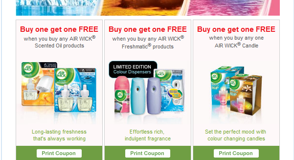 AirWick PRINTABLE Coupons available off Shoppers Voice