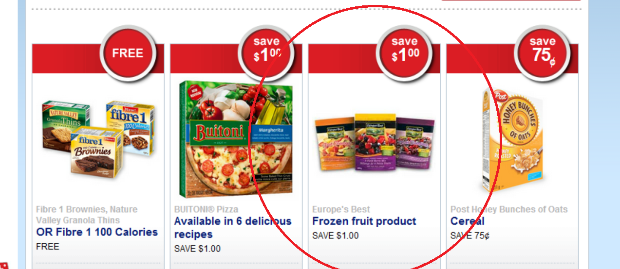 **NEW COUPON** Available to request through Save.ca – Europes Best Frozen Fruit
