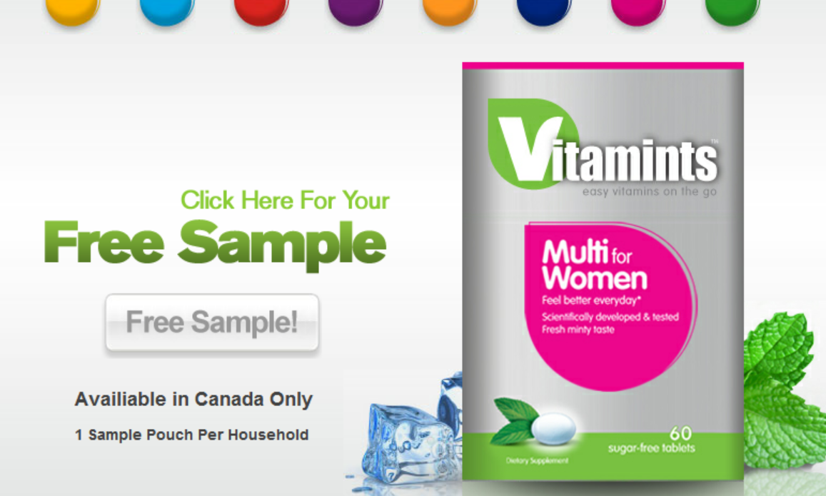 FREE VITAMINS Sample Pouch – valid in Canada