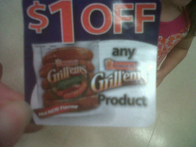 NEW COUPON found ON a PRODUCT SPOTTED!  Schneiders Grill'ems with a June 2013 expiry
