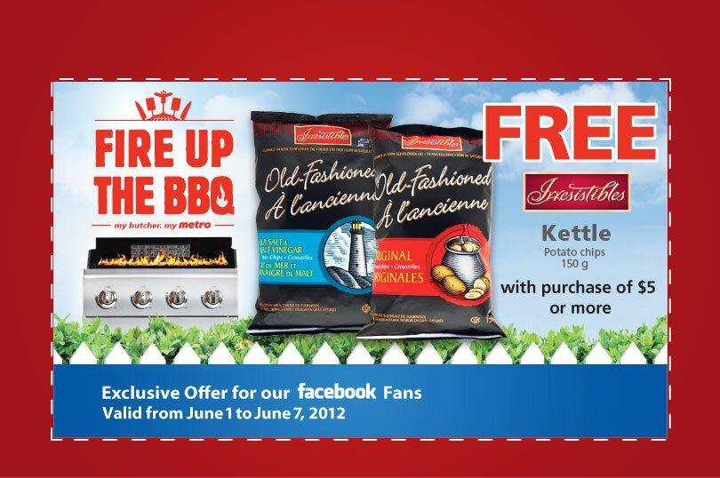Free Irresistibles Bag of Chips from METRO