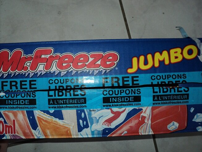 *NEW* Mr Freeze Coupons Found Inside the Box