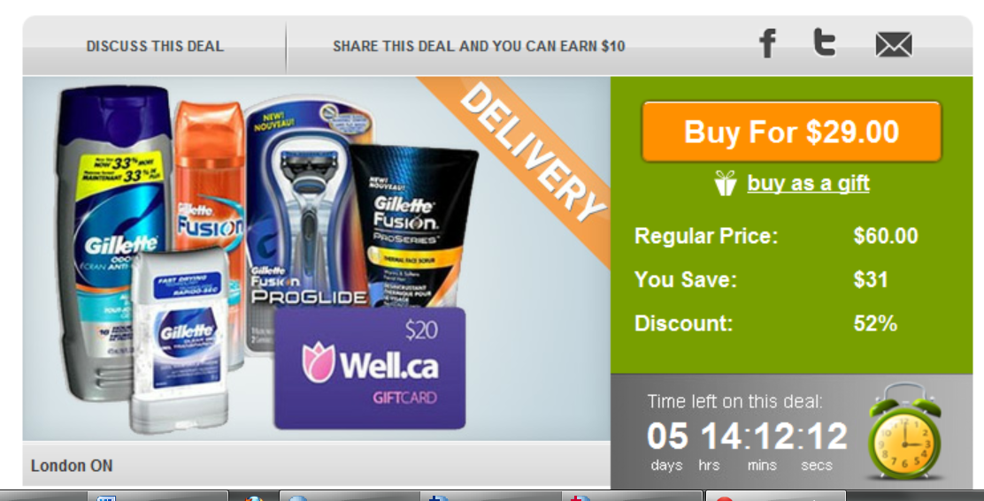 WagJag DEAL – $29 for a Gillette Fathers' Day Pack + BONUS $20 Well.ca gift card = $9 !!!