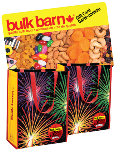 Spend $10 get $3 off at BULK BARN coupon is back! and FREE REUSABLE BAG for their 30th Anniversary