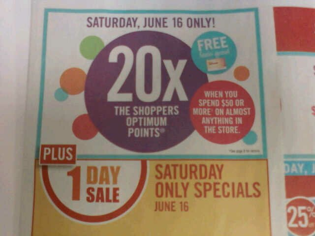 20x Shopper's Event JUNE 16 ONLY!!