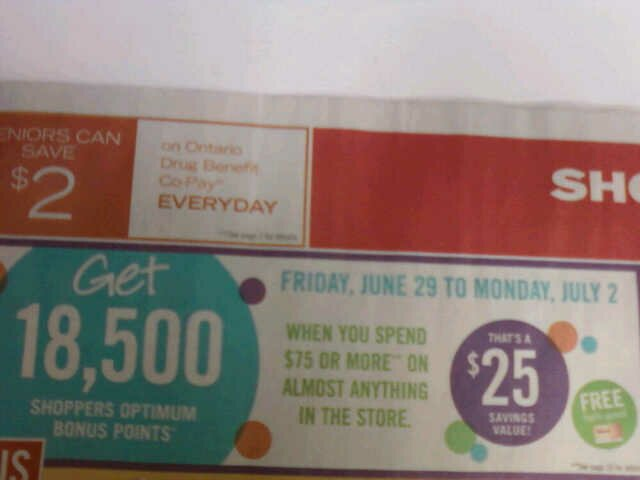 Shopper's Optimum Bonus Points Event!