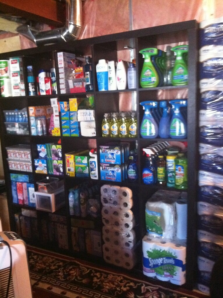 Couponing Stockpiles: Wondering what a Canadian's Coupon Storage room looks like? Take a look!