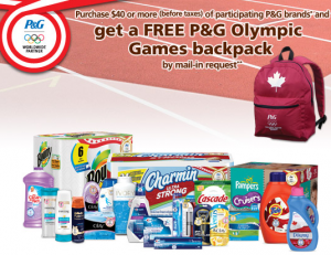 Free P&G Olympic Games Backpack with Mail in Rebate