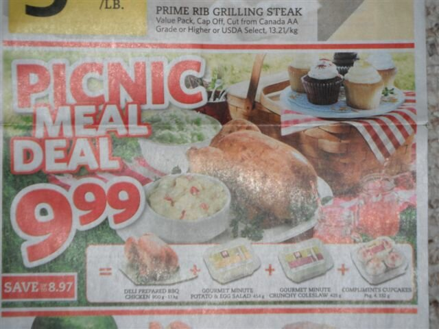 Dinner for $10? YES PLEASE! Thank you Sobey's for this great PICNIC Meal Deal (Southwestern Ontario Flyer)