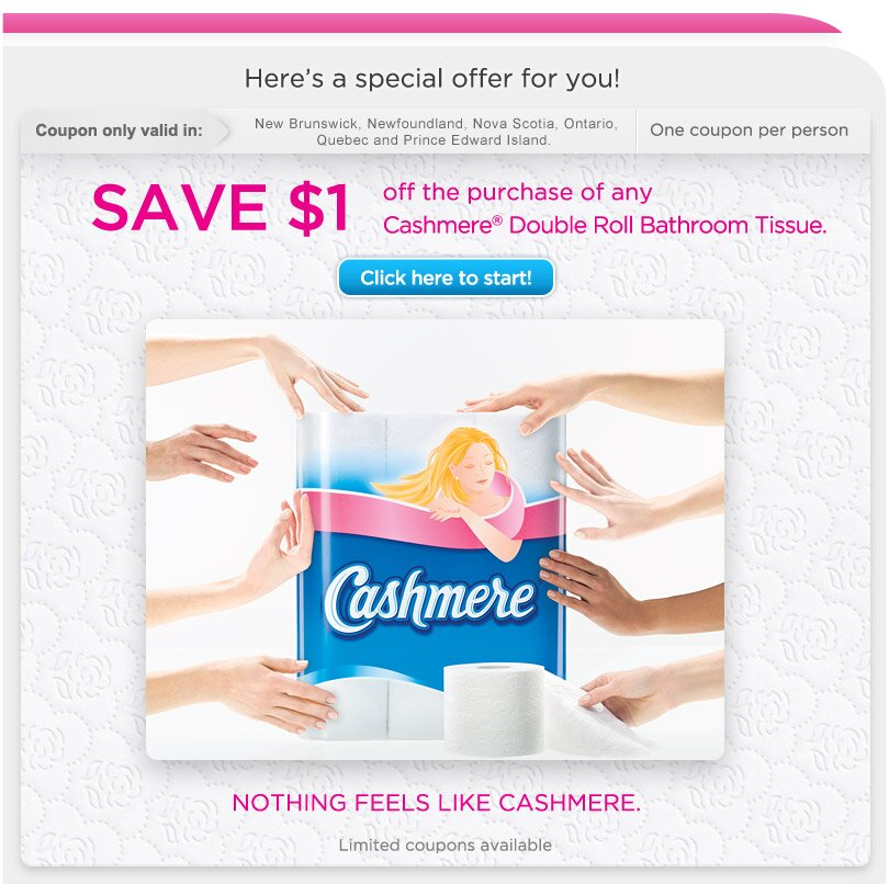 New $1 Cashmere Coupon!
