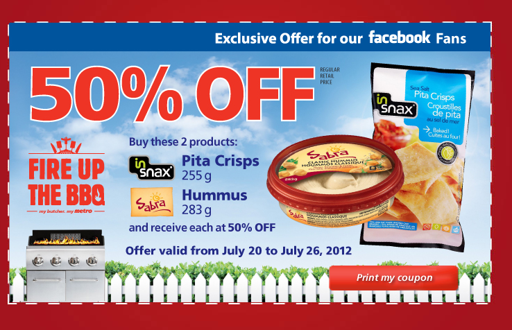 New 50% off Coupon from Metro Ontario's Facebook :)