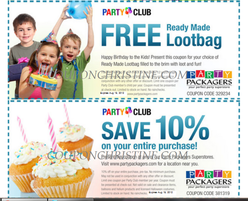 Planning a party? Party Packagers – 10% off + free loot bag for your child!