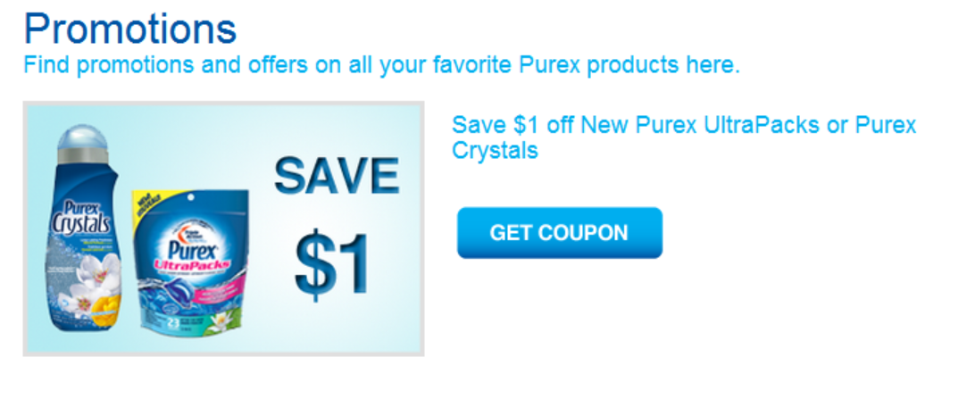 *NEW PRINTABLE COUPON* on Smartsource for PUREX Laundry Cleaner