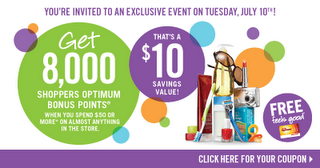 July 10 2012 Bonus Optimum Points!