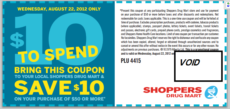 Spend $50 at SDM and get $10 off your bill with THIS coupon – VALID on WED. AUG. 22 ONLY