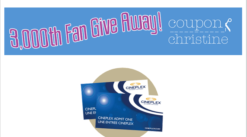 How would you like to win 2 free movie tickets to Cineplex Odeon?  ENTER HERE!