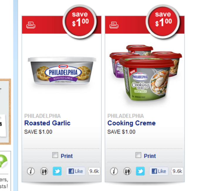 2 NEW PHILLY CREAM CHEESE Coupons on Save.ca