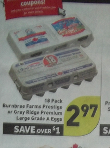 AWESOME DEAL on EGGS at FRESHCO starting Thursday, Aug. 23 – Wed. Aug. 29 (Ontario)