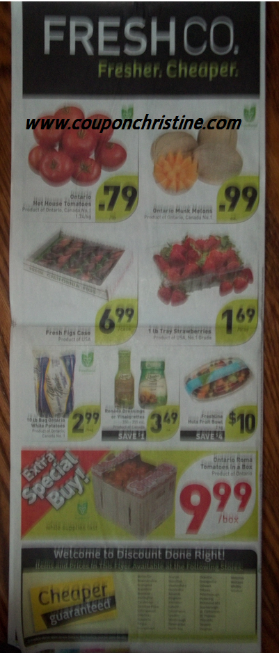 FRESHCO SNEAK PEEK (Aug. 24 – Aug. 30) Flyer Sales (Ontario)