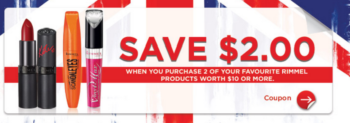 NEW COUPON – $2 off a $10 purchase of RIMMEL Products