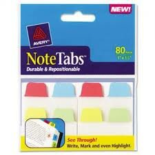 Avery Note Tab Sample!
