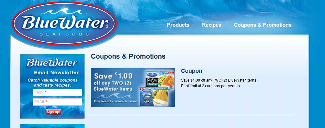 $1 off WUB2 Bluewater Fish Printable Coupon