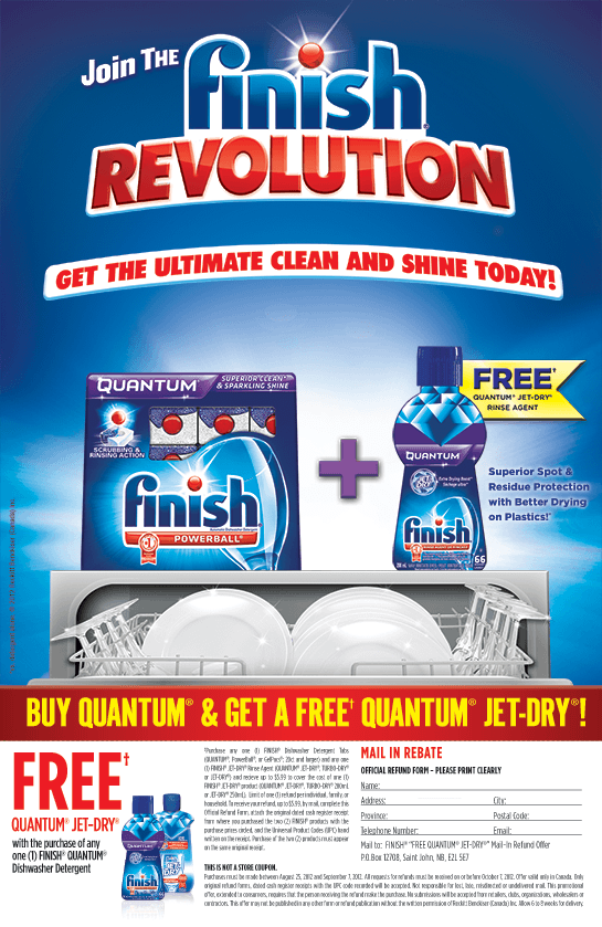 Free Jet Dry Offer from Finish