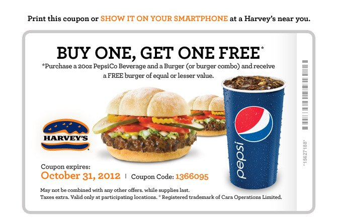 Buy One Get One Free at Harveys