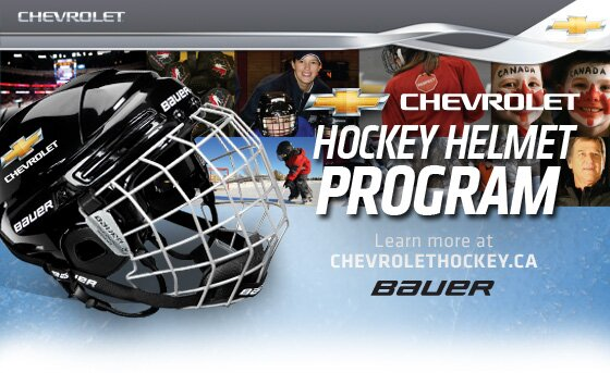 Free Bauer Youth Hockey Helmet from Chevrolet