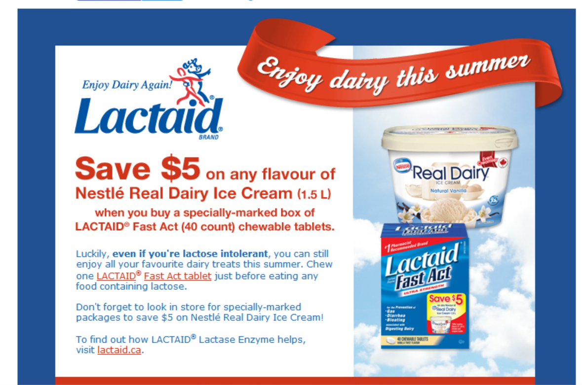 *NEW COUPON FOUND* on specially marked boxes of Lactaid 40ct chewable tabs