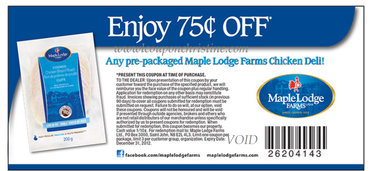 NEW COUPON – Sliced Chicken Deli Meats from Maple Lodge Farms