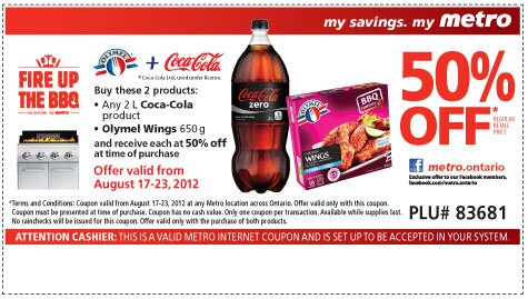 50% off Pop and Wings at Metro!