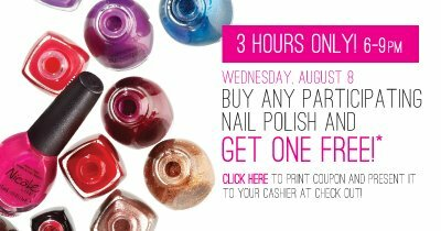 Buy one get one free nail polish at Shopper's!