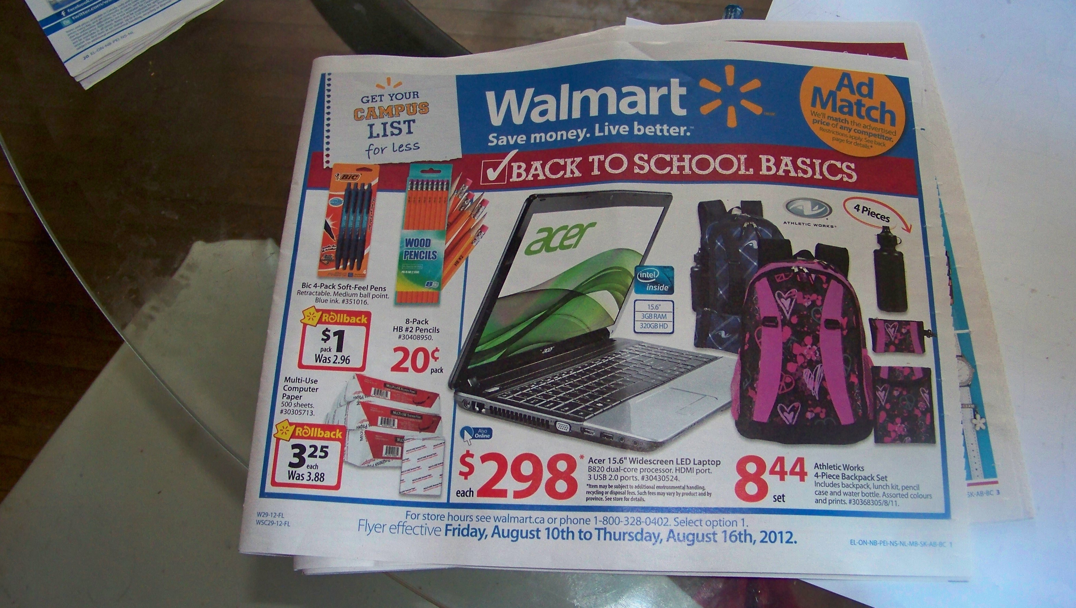 Walmart Sneak Peek Aug 10-Aug 16 2012