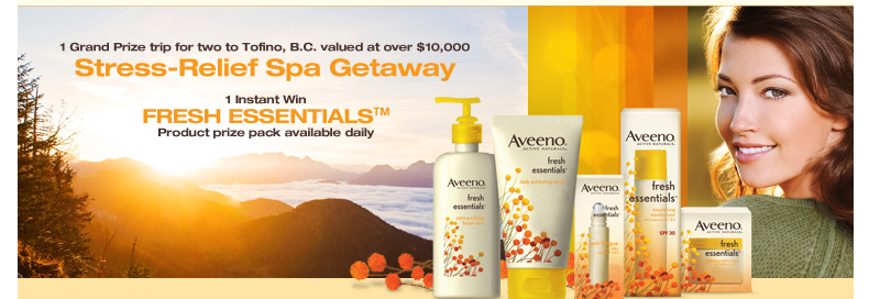 AVEENO's Fresh Essentials Facebook Contest – try your luck EVERYDAY!
