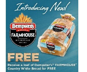FREE BREAD – FPC from Dempsters Farmhouse Country White Bread – STILL AVAILABLE ONTARIO ONLY