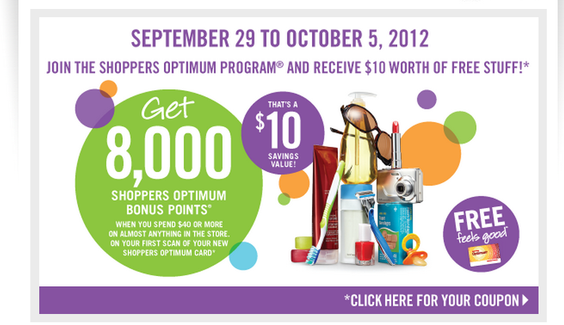 FREE 8000 points for NEW SDM Optimum Card Members with a $40 purchase in store – limited time only